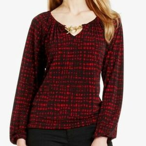 Michael Kors Blouse with Toggle Neckline